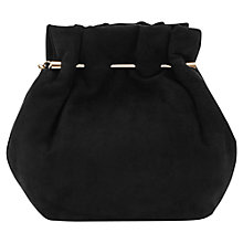 Buy Reiss Suede Joyce Evening Bag, Black Online at johnlewis.com