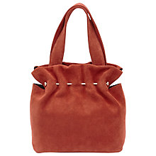 Buy Reiss Cassius Suede And Metal Tote Bag, Rust Online at johnlewis.com