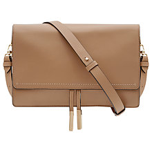 Buy Reiss Marcel Cross Body Day Bag, Truffle Online at johnlewis.com