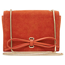 Buy Reiss Pinky Bow Front Bag, Coral Online at johnlewis.com