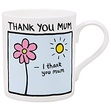Buy McLaggan Smith 'Thank You Mum' Mug Online at johnlewis.com