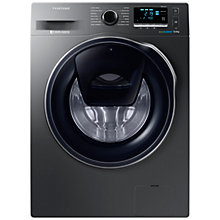 Buy Samsung AddWash WW90K6410QX/EU Washing Machine, 9kg Load, A+++ Energy Rating, 1400rpm Spin, Inox Online at johnlewis.com