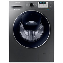 Buy Samsung AddWash WW80K5413UX/EU Washing Machine, 8kg Load, A+++ Energy Rating, 1400rpm Spin, Inox Online at johnlewis.com