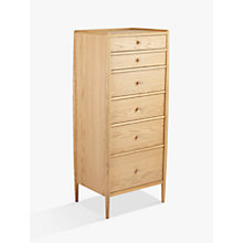 Buy ercol for John Lewis Shalstone 6 Drawer Tallboy Chest Online at johnlewis.com