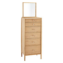 Buy ercol for John Lewis Shalstone 6 Drawer Tallboy Chest & Tallboy Mirror Online at johnlewis.com
