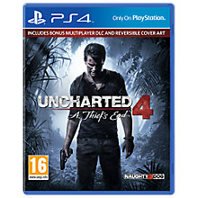 Buy Uncharted 4: A Thief's End Launch Edition for PS4 Online at johnlewis.com