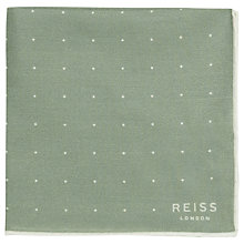 Buy Reiss Higgs Polka Dot Pocket Square Online at johnlewis.com