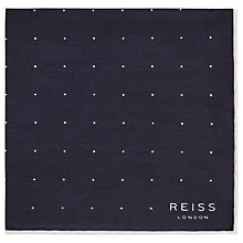 Buy Reiss Higgs Silk Polka Dot Pocket Square Online at johnlewis.com