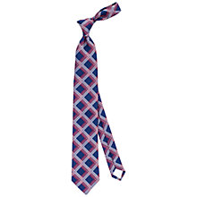 Buy Thomas Pink Team GB Holbrooke Striped Silk Tie, Navy/White Online at johnlewis.com