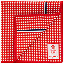 Buy Thomas Pink Cardew Check Handkerchief, Red/White Online at johnlewis.com