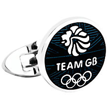 Buy Thomas Pink Team GB Cowen Cufflinks, Silver/Navy Online at johnlewis.com