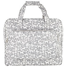 Buy John Lewis Deer Print Sewing Machine Bag, Grey Online at johnlewis.com