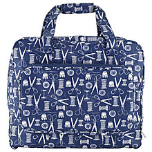 Buy John Lewis Sewing Stuff Print Sewing Machine Bag, Navy Online at johnlewis.com