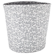 Buy John Lewis Deer Print Storage Bucket, Grey Online at johnlewis.com