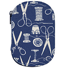 Buy John Lewis Sewing Stuff Print Sewing Kit, Navy Online at johnlewis.com