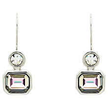 Buy Monet Vitrail Crystal Drop Earrings, Silver Online at johnlewis.com