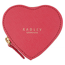 Buy Radley Sweetheart Medium Leather Hearts Purse, Pink Online at johnlewis.com