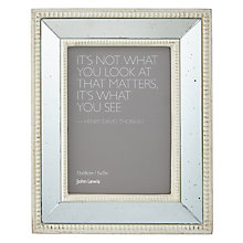 "Buy John Lewis Antique Mirror Photo Frame 5 x 7"", Cream Online at johnlewis.com"