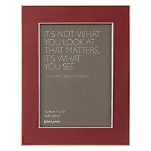 "Buy John Lewis Amy Photo Frame, 5 x 7"" Online at johnlewis.com"