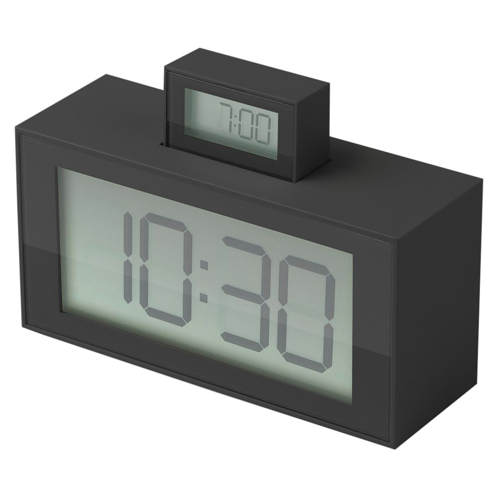 Lexon Lexon Pop Up Alarm Clock, Grey