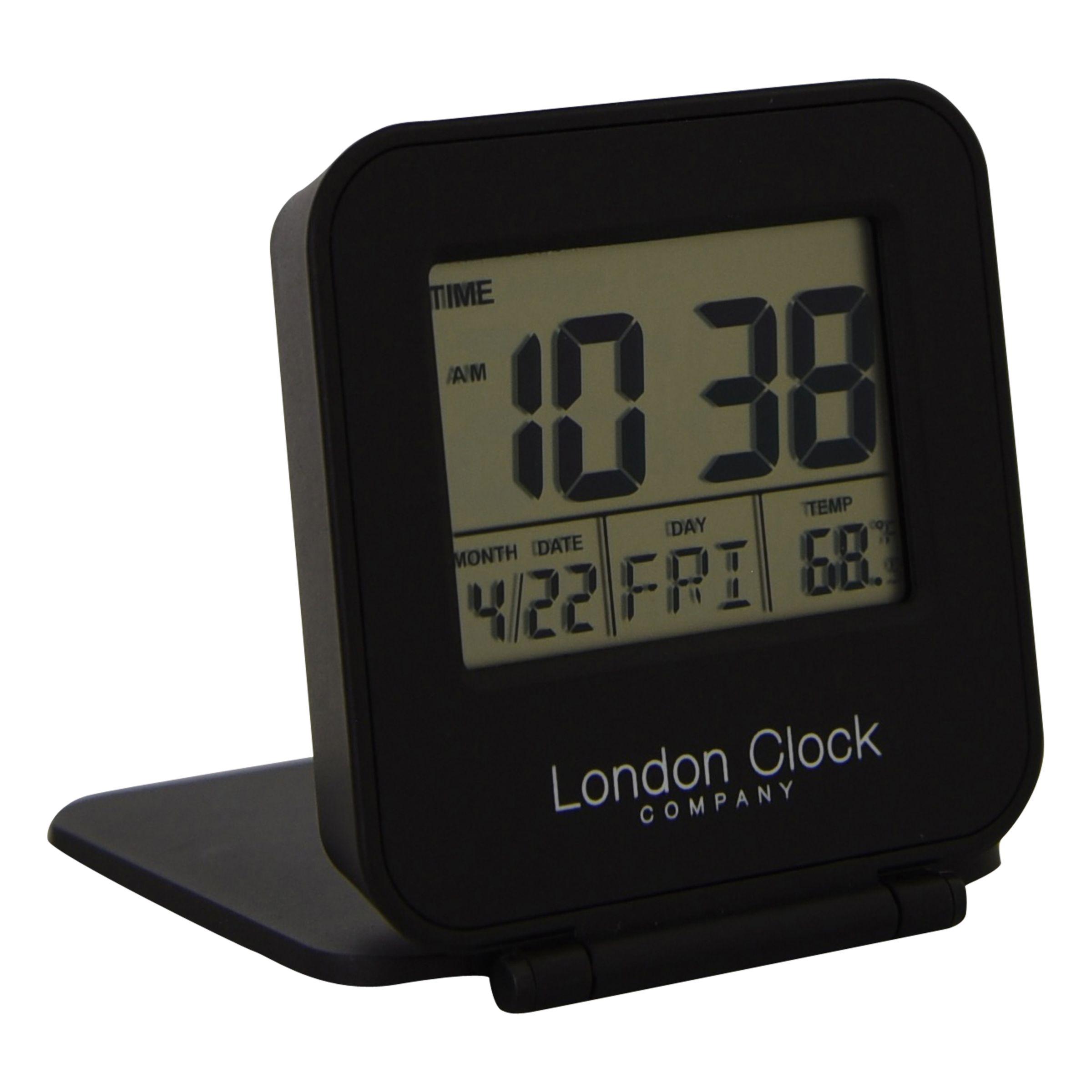 London Clock Company London Clock Company Tourist Alarm Clock, Black