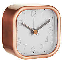 Buy House by John Lewis Metal Square Alarm Clock Online at johnlewis.com
