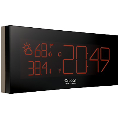 Image of Oregon Scientific Prysma Chrome Weatherstation Alarm Clock