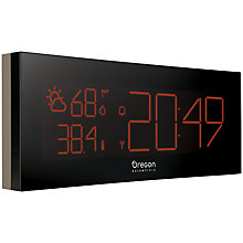 Buy Oregon Scientific Prysma Chrome Weatherstation Alarm Clock Online at johnlewis.com