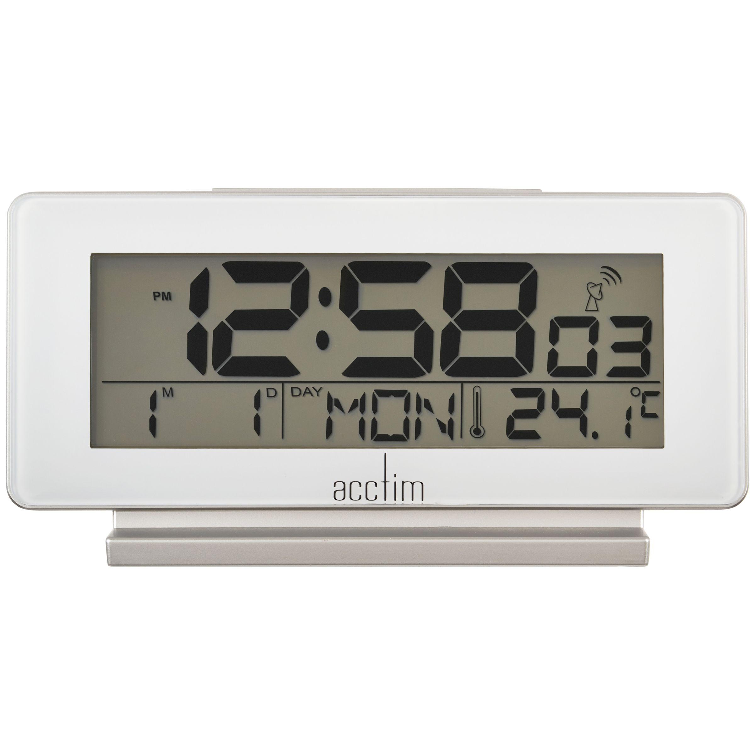 Acctim Acctim Novara Radio Controlled Alarm Clock, White
