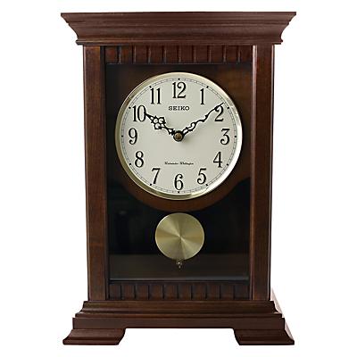 Image of Seiko Chiming Wooden Pendulum Clock, 33cm
