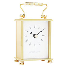 Buy London Clock Company Solid Brass Mini Carriage Clock, Gold Online at johnlewis.com