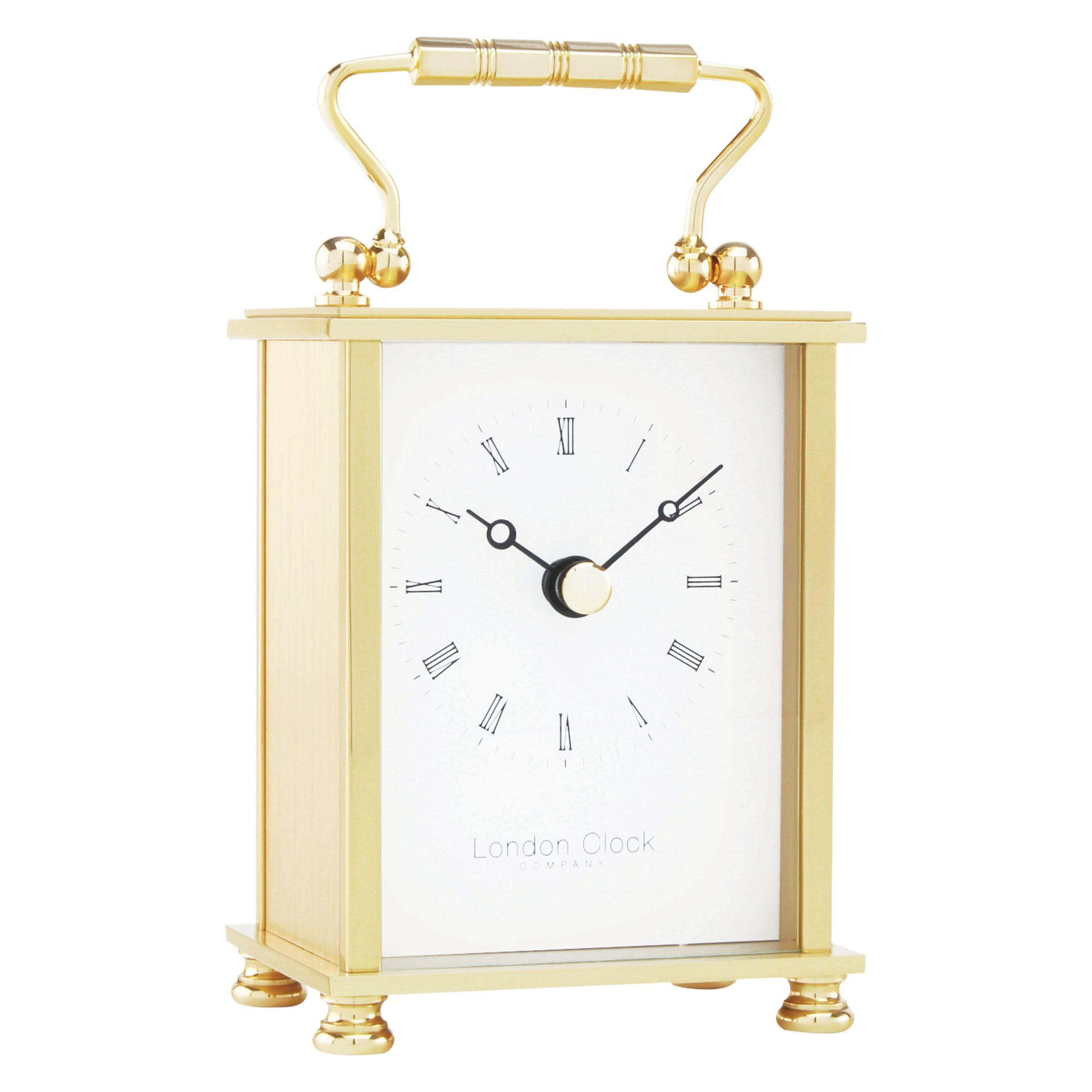 London Clock Company London Clock Company Solid Brass Mini Carriage Clock, Gold