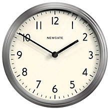 Buy Newgate The Spy Clock, Silver Online at johnlewis.com