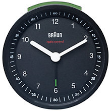 Buy Braun Radio Controlled Alarm Clock, Black Online at johnlewis.com