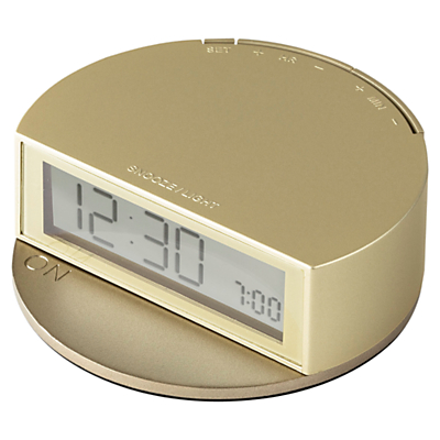 Image of Lexon Fine Alarm Clock, Gold