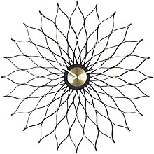 Buy Vitra Sunflower Wall Clock, Black/Brass, 75cm Online at johnlewis.com