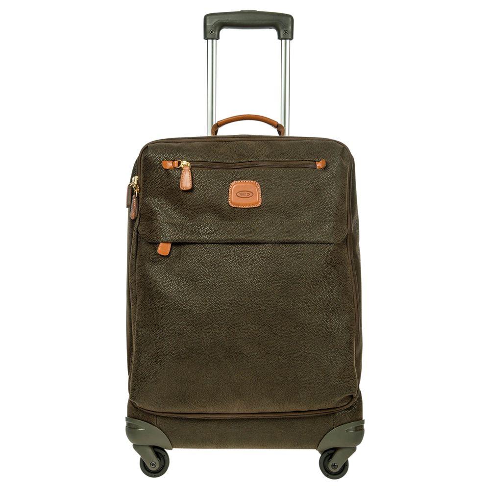 Bric's Bric's Life Cabin Bag 4-Wheels 55cm Suitcase, Olive