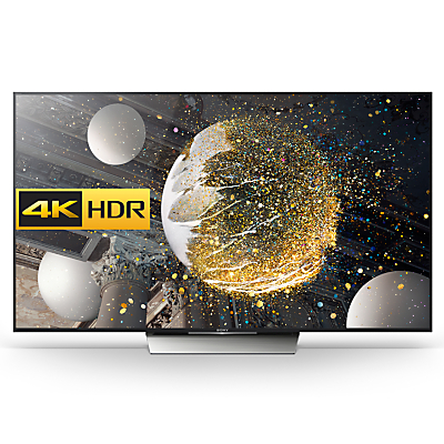 "Sony Bravia 65XD8599 LED HDR 4K Ultra HD Android TV, 65"" With Youview/Freeview HD, Playstation Now & Silver Slate Design"