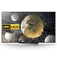 "Buy Sony Bravia 65XD8599 LED HDR 4K Ultra HD Android TV, 65"" With Youview/Freeview HD, Playstation Now & Silver Slate Design Online at johnlewis.com"