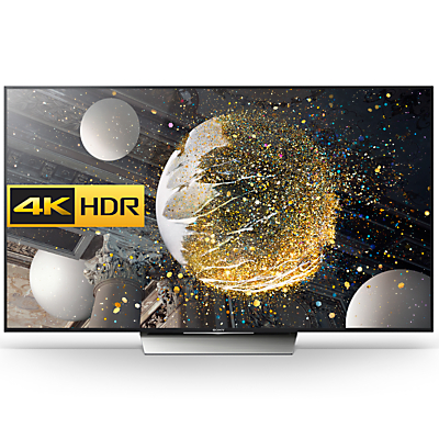"Sony Bravia 75XD8505 LED HDR 4K Ultra HD Android TV, 75"" With Youview/Freeview HD, Playstation Now & Silver Slate Design"