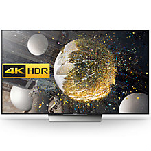 "Buy Sony Bravia 75XD8505 LED HDR 4K Ultra HD Android TV, 75"" With Youview/Freeview HD, Playstation Now & Silver Slate Design Online at johnlewis.com"