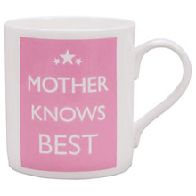 Buy McLaggan Smith 'Mother Knows Best' Mug Online at johnlewis.com