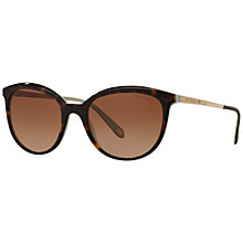 Buy Tiffany & Co TF4117B Gradient Oval Sunglasses, Tortoise Online at johnlewis.com