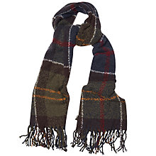 Buy Barbour Tartan Boucle Scarf, Multi Online at johnlewis.com