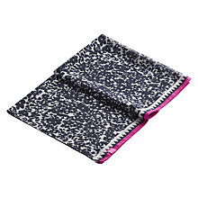 Buy Joules Wensley Winter Ditsy Print Scarf, Navy Online at johnlewis.com