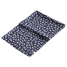 Buy Joules Wensley Scribbley Dog Print Scarf, French Navy/White Online at johnlewis.com