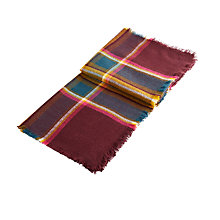 Buy Joules Heyford Stripe Scarf, Burgundy/Multi Online at johnlewis.com