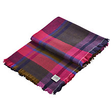Buy Joules Berkley Stripe Print Scarf, Hot Pink/Multi Online at johnlewis.com