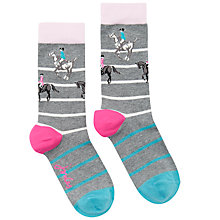 Buy Joules Brill Bamboo Horse Print Ankle Socks, Grey/Multi Online at johnlewis.com