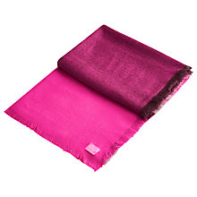 Buy Joules Berkley Colour Block Scarf, Fuchsia/Chrysanthemum Online at johnlewis.com